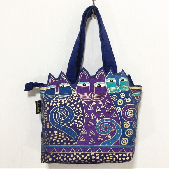 ac588d1f27a Laurel Burch Bags | Indigo Cats Cutout Bag | Poshmark